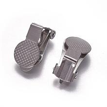 Stainless Steel Clip-on Earring Findings KK-F785-03P