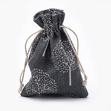 Polycotton(Polyester Cotton) Packing Pouches Drawstring Bags ABAG-T006-A21