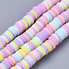 Handmade Polymer Clay Beads StrandsCLAY-R089-6mm-087-1