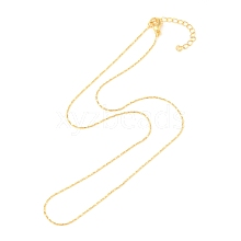 Gold Plated Tin Alloy Snake Chain Fine Necklace Making NJEW-BB10181-18