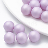 Environmental Plastic Imitation Pearl Beads X-MACR-S277-10mm-B-2