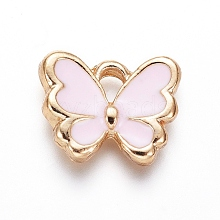 Light Gold Plated Alloy Charms ENAM-L029-06C