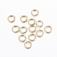 304 Stainless Steel Open Jump Rings STAS-G179-03G