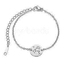 201 Stainless Steel Link Bracelets STAS-T040-JN012-1