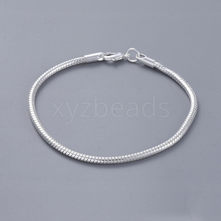 Unisex Brass Snake Chain BraceletsBJEW-BB12548-1