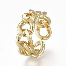 Brass Cuff Rings RJEW-K232-19G