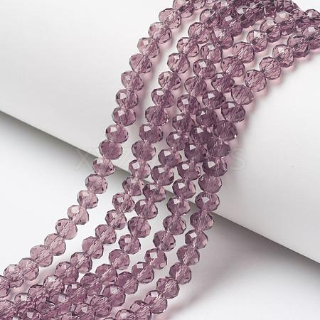 Glass Beads StrandsEGLA-A034-T8mm-D13-1