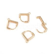 Brass Huggie Hoop Earring Findings KK-I666-15G