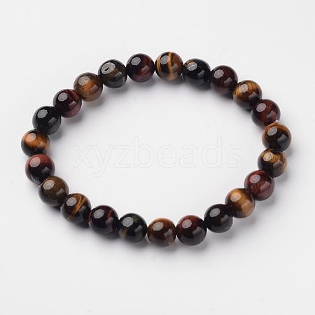 Natural Tiger Eye Round Bead Stretch BraceletsX-BJEW-L594-A03-1