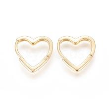 Brass Huggie Hoop Earrings EJEW-F245-05G