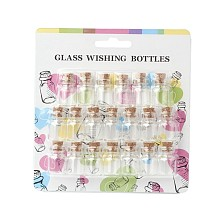 Bead Containers Clear Glass Jar Glass Bottles AJEW-JP0001-02
