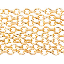 PandaHall Elite Brass Cable Chains CHC-PH0001-01G-NF