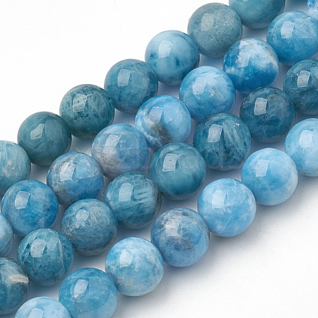 Natural Apatite Beads Strands G-S150-18-6mm-1