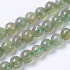 Natural Green Apatite Beads Strands G-F568-208-6mm-1