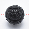Carved Natural Obsidian BeadsG-P360-01-10mm-2