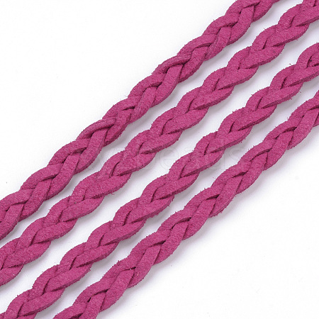 Braided Faux Suede Cord LW-Q008-2.7mm-1047-1