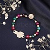Alloy Beaded Bracelets BJEW-Q695-06MG-NR-6