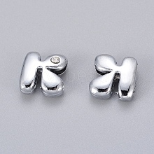 2PCS Platinum Color Letter K Slide Charms X-ZP2K-NLF