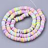 Handmade Polymer Clay Beads StrandsCLAY-R089-6mm-087-2