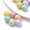 Environmental Plastic Imitation Pearl Beads X-MACR-S277-10mm-B-1