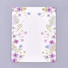 Floral Pattern Paper Jewelry Display Cards CDIS-E009-06A