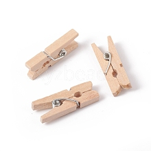Natural Wooden Craft Pegs Clips WOOD-E010-02E
