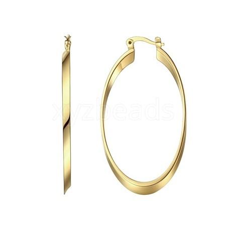 Brass Hoop EarringsEJEW-BB65685-B-1