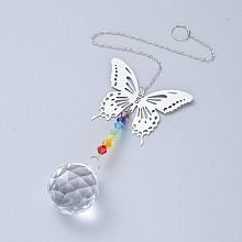 Crystals Chandelier Suncatchers Prisms Chakra Hanging Pendant AJEW-I040-18P